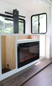 installing a tv lift and electric fireplace in rv