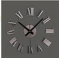 home decor free shipping vintage wood texture 3d roman numeral clock home decoration wall
