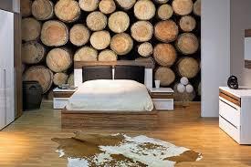 papier peint design chambre papier peint chambre rondins de bois izoa