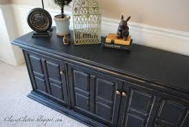 classic black console makeover classy clutter