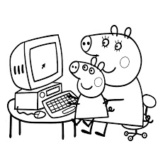 coloring pages peppa the pig peppa pig coloring pages free download best peppa pig coloring