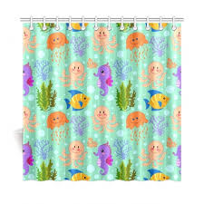 Best Fabric For Shower Curtain Coral Turquoise And Blue Aztec Fabric Shower Curtain High Coral