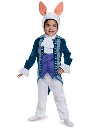 Bunny Halloween Costume Kids Alice Glass Toddler White Rabbit Deluxe