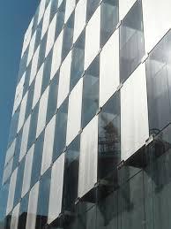 Metal Curtain Wall Laminated Glass Curtain Wall Dupont Sentryglas Sefar