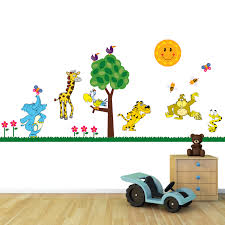 jungle wall stickers decals mini jungle animals full colour wall stickers bedroom