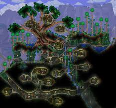 Daylight World Map by Overgrown Dungeon Entrance U0027 Grew Into Skeleton Village Terraria