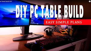 setup computer desk build diy custom made youtube