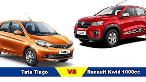 tata tiago vs renault kwid 1000cc 1 0l u2013 comparison price