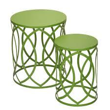 amazon com accent round nesting tables stools interlocking
