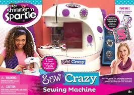 cra z art shimmer u0027n sparkle sew crazy sewing machine craft kit