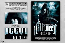 halloween flyer template v8 psd to customize easily