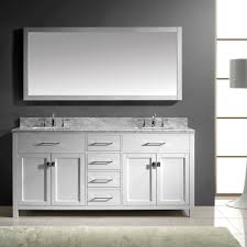 Virtu Bathroom Accessories by Virtu Usa Caroline 72 Double Bathroom Vanity Set In White