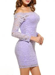 light purple lace bodycon dress women s off shoulder long sleeve lace bodycon dress girlonstyle com