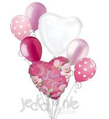 heart balloon bouquet pink roses i you balloon bouquet heart balloons pink roses