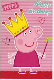peppa pig birthday peppa pig happy birthday greatings card ebay