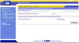 teks prosedur membuat rekening bank menambahkan daftar tujuan rekening pada klikbca internet banking