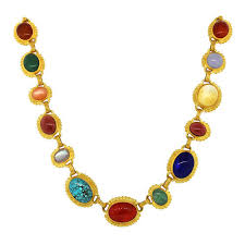colored gem necklace images Multicolored gemstone necklace at rs 15001 piece ratnon wale jpg