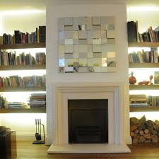furniture ideas for either side of fireplace varyhomedesign com