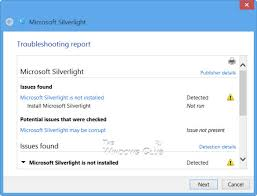Microsoft Silver Light Clean Corrupted Silverlight Installation In Windows