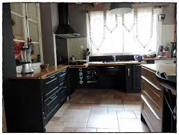 cuisine en chene repeinte renover meuble cuisine