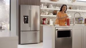 Kitchenaid Counter Depth French Door Refrigerator Stainless Steel - counter depth french door refrigerator kitchenaid youtube