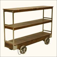 Industrial Kitchen Cart by Industrial Rolling Reclaimed Wood U0026 Iron 3 Tier Console Cart Table