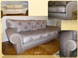 relooker un canapé en cuir canapé relooké tapisserie graffard