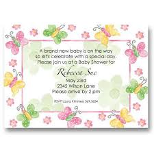 butterfly flower baby shower invitations baby cachet