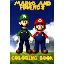 mario friends coloring book walmart
