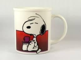 snoopy mug i m not worth anything before my coffee