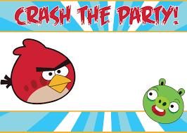 Printable Birthday Invitation Cards For Kids Birthday Invites Stunning Angry Birds Birthday Invitations Design