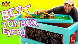 Free Patterns For Wooden Toy Boxes by Diy Toy Box Super Easy To Build Free Plans Youtube