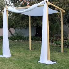 chuppah poles rent bamboo wedding chuppah just 4 party rentals santa barbara
