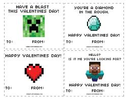 minecraft valentines cards creative type free minecraft valentines