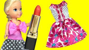 dress up mess elsa u0026 anna toddlers dresses lipstick