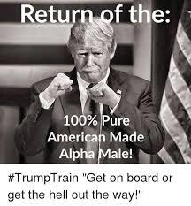 Alpha Meme - return of the 100 pure american made alpha male trumptrain get on
