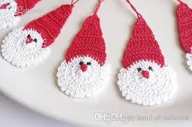 Santa Claus Christmas Ornaments by Crochet Santa Claus Christmas Decorations Hanging Christmas