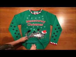 lighted tangled cat ugly christmas sweater in green by festified