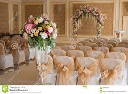 beautiful wedding set up inside stock photo image 58969494