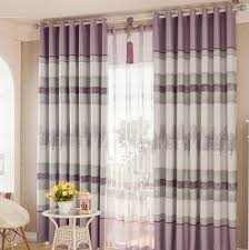purple tree pattern insulated polyester room darkening country