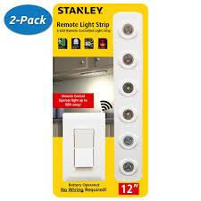 2 pack stanley 32760 led remote light strip wireless under