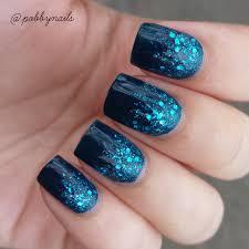 la colors blue glitter striper polish swatches and nail art