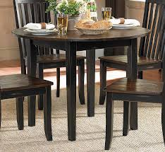 dark brown round kitchen table homelegance three falls round dining table with drop leaf two tone