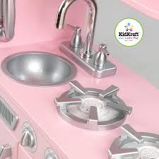 amazon com kidkraft vintage kitchen in pink toys u0026 games