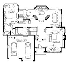 edmonton lake cottage 1st floor plan unique black white house