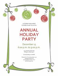 Corporate Christmas Party Invitation Templates Free