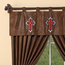 western valances with star starlight trails chocolate star