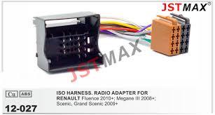 jstmax car stereo iso radio plug for renault fluence megane iii