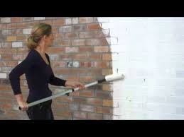 How To Paint A Brick Wall Exterior - dulux texture full cover roll on paint render refresh youtube