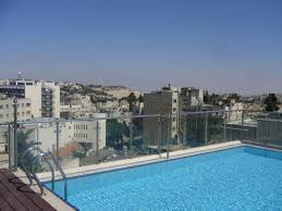 rooftop view from the pool at the st george hotel jerusalem